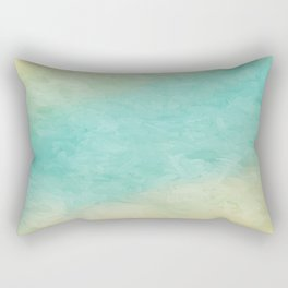 Impressions in Hues of Mint Green,blue & Yellow Home Decor Rectangular Pillow