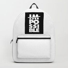 Possible, Impossible, motivational poster, typography, Backpack