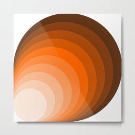 Warm Color In Circles Metal Print