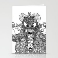 bigfoot Stationery Cards featuring Bigfoot by Iamzombieteeth Clothing