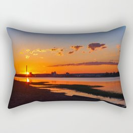 Orange Sunshine Sky Rectangular Pillow