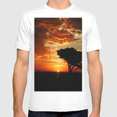 Fiery Dragon MEDIUM Mens Fitted Tee White