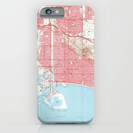 Vintage Map of Long Beach California (1964) 4 iPhone Case