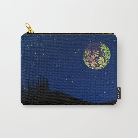 Fractal Moon Carry-All Pouch