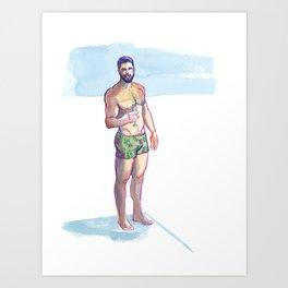 RYAN, Semi-Nude Male by Frank-Joseph Art Print