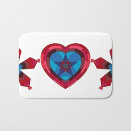 Hearts - Crystal Heart Bath Mat