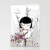 i want to believe Stationery Cards featuring I WANT TO BELIEVE by Agente Morillas