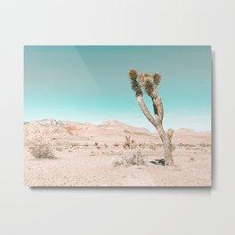 Vintage Desert Scape // Cactus Nature Summer Sun Landscape Photography Metal Print