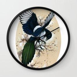 Resplendent Magpie Wall Clock