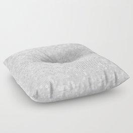 Chic elegant glamour White Faux Glitter  Floor Pillow
