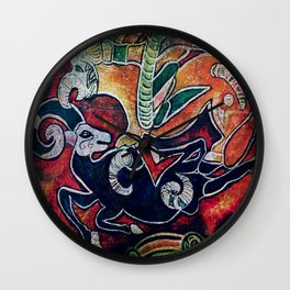 Scythian Designs Ibex & Griffin by Sheridon Rayment Wall Clock