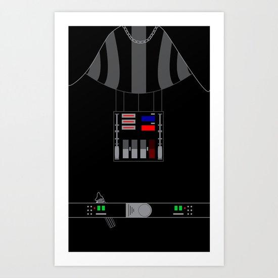 Star Wars Darth Vader Vector Art Print