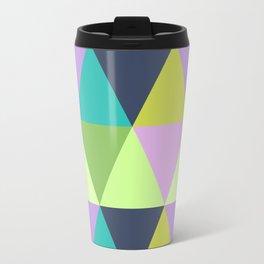Light harlequin pastel quilt pattern Travel Mug