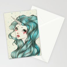 Unicorn Girl Stationery Cards