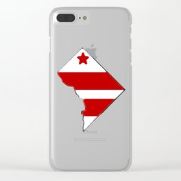 Washington DC District of Columbia Map with Flag Clear iPhone Case