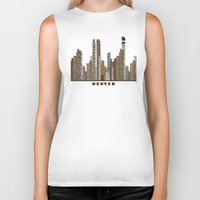denver Biker Tanks featuring Denver by bri.buckley