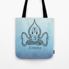 Paisley Yoga Octopus Namaste Tote Bag
