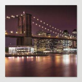 BROOKLYN BRIDGE Nightly Impressions Canvas Print