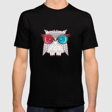 Owl - Owl MEDIUM Black Mens Fitted Tee