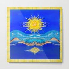 Sacred Sun Metal Print