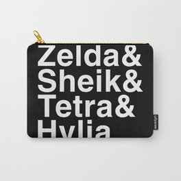 Zelda & Sheik & Tetra & Hylia helvetica list Carry-All Pouch