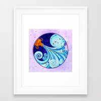 aquarius Framed Art Prints featuring Aquarius by Sandra Nascimento