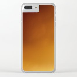 Down in Flames: Bird in Fire Sunset Sky Clear iPhone Case