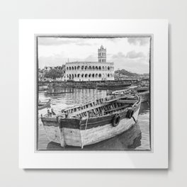 Comoros, Harbour and Mosque on Grande Comore Metal Print