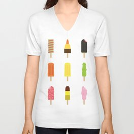 90s Ice Cream Collection - Which one was your favourite? Unisex V-Neck