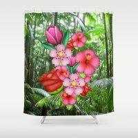 emoji Shower Curtains featuring Flower Emoji by jajoão
