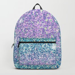 Blue & Lilac Mermaid Glitter Ombre Backpack
