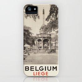 Vintage poster - Liege iPhone Case