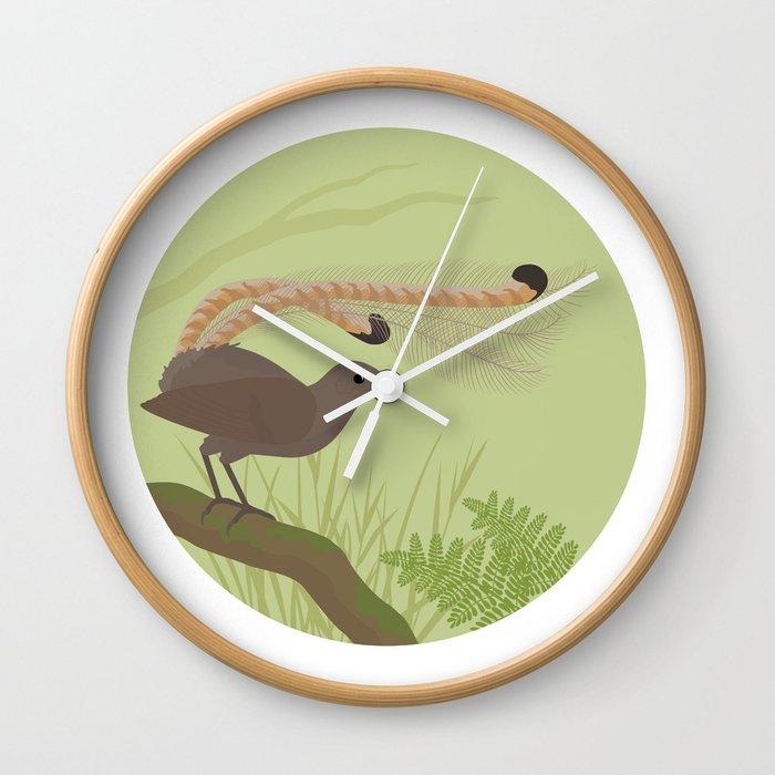 Superb Lyrebird Wall Clock