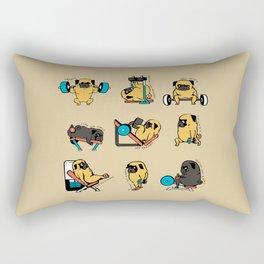 Pug Leg Day Rectangular Pillow