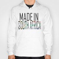 south africa Hoodies featuring Made In South Africa by VirgoSpice