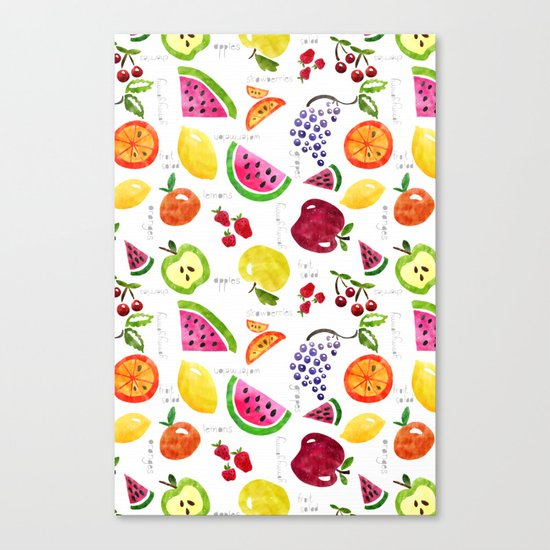 Fruit Salad Yummy Yummy Canvas Print