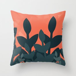 Plant Pop Throw Pillow