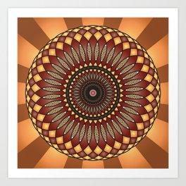 Inspiration Mandala - מנדלה השראה Art Print