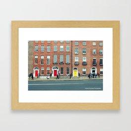 Busy Day in Dublin Framed Art Print