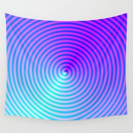 Coiled in Blue and Pink Wall Tapestry