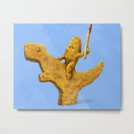 A Nug and It's Steed Metal Print
