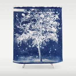 Flattened Image of Fallen Tree Shower Curtain