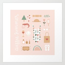 Aussie Summer Art Print