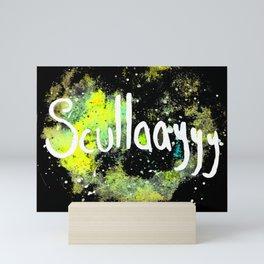 Scullayyy Yellow & Green Nebula Mini Art Print