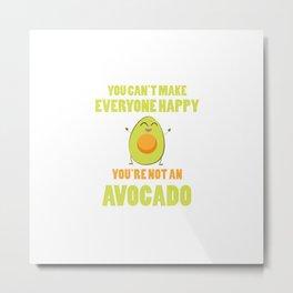 Happy Avocado Quote | Vegan Gift Idea Metal Print