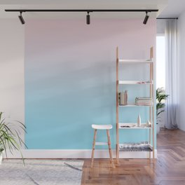 HEAD IN THE CLOUDS - Minimal Plain Soft Mood Color Blend Prints Wall Mural