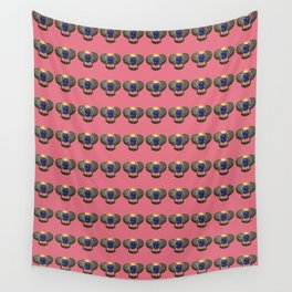Egyptian Beetle Pattern (rose) Wall Tapestry