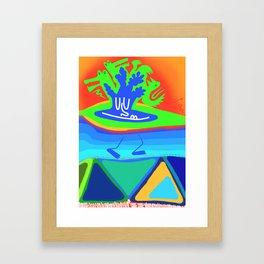 An Island Chillin Framed Art Print