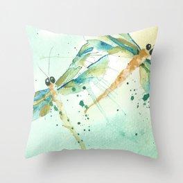 Dragon fly love Throw Pillow