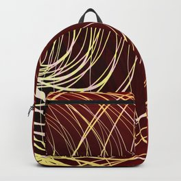 Complex Swirl-Golden Red Backpack
